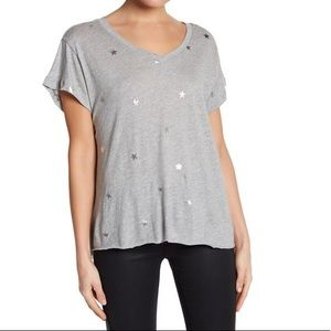 Wildfox Twinkle Foiled Star Print Tee